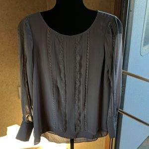 White House Black Market Gray size 6 blouse